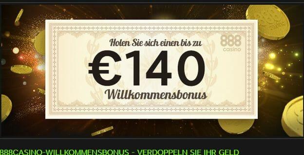 888 Casino Startguthaben