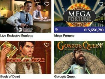Casino Euro Spielangebot