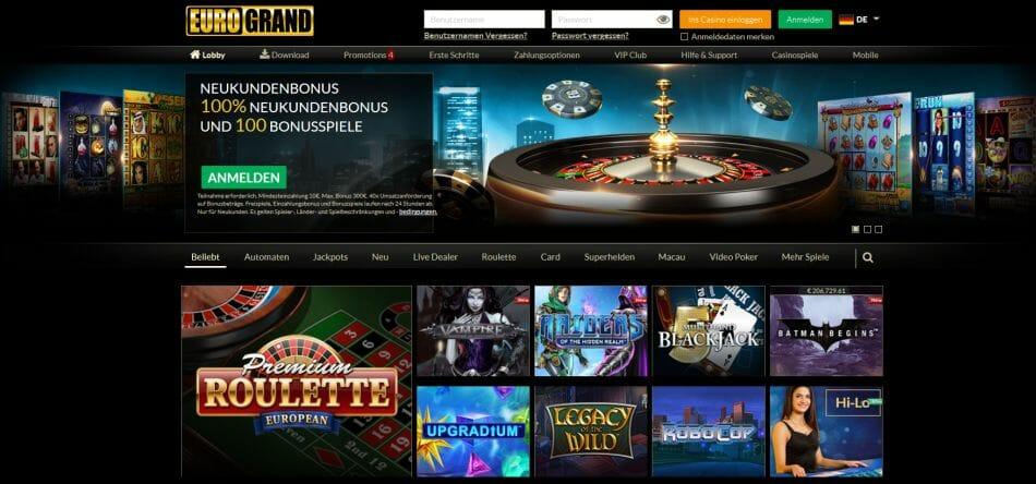 Eurogrand Casino Vorschau