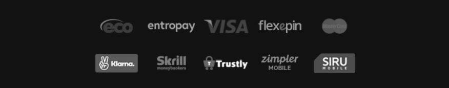 Videoslots Casino Zahlungsmethoden